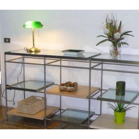 Consolle in vetro e acciaio ferroutlet for Stock mobili ufficio