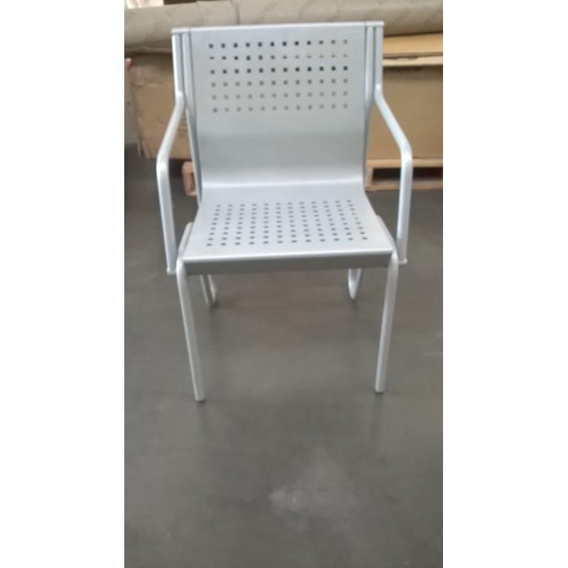 Stock 10 sedie da ufficio in metallo grigio ferroutlet for Mobili ufficio stock